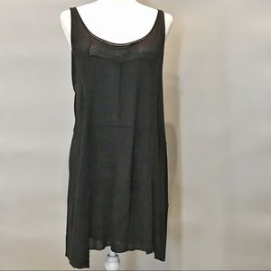 Anthropologie Tie-Up Black Knit Dress/Tunic Size L